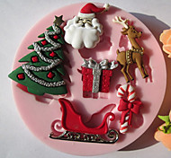 Christmas Tree Gift Silicone Chocolate/Fondant/Sugar Mold