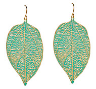 European Style Leaf Drop Earrings