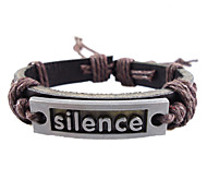 European 17Cm Men'S Brown  Leather Bracelet(Yellow,Brown And More)(1 Pc)