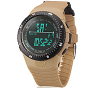 Men's Digital LCD Multifunctional Rubber Band Wrist Watch (Assorted Colors)