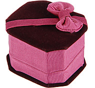 Fashion Pink Flannel Jewelry Box For Ring (1 pc)