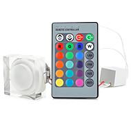 E26/E27 3 W 1 150 LM RGB Verzonken ombouw Op afstand bedienbaar Plafondlampen AC 85-265 V