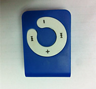 Mini Clip Plug-in Micro SD Card TF Card Reader MP3 Music Player - Blue