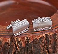 Personalisierte Geschenke Fisch-Skala-Muster-Silber Metall gravierte Manschettenknopf