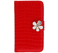 Crocodile Pattern Full Body Case with Card Slot for iPhone 4/4S (Assorted Colors)