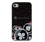 Club Poker Texture TPU Soft GEL Back Cover Skin Case for iPhone 4/4S