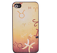 Yellow Ground Mathematical Symbol Pattern Relief Back Case for iPhone 4/4S