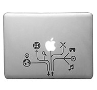 Mind-mapping Pattern Transparent PC Hard Case for MacBook Air (Assorted Colors)