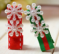 Gioielli Gioielli per capelli Feste Quotidiano Cristallo 1 Set Bambine Rosso Verde Regali di nozze