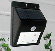 4-LED White Light LED Solar Light PIR Sensor Outdoor Light