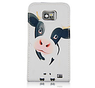 Loverly Milch Cow Pattern PU Leather Full Body Case for Samsung Galaxy S2 I9100