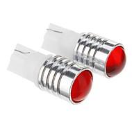 T10 1.5W 3x7020SMD 105lm Red Light Bulb LED per auto (12V DC, 2pcs)