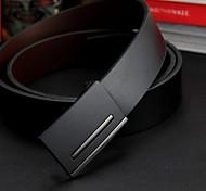 Men's Genuine Leather Smooth Buckle Belt