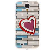 Herzen auf Wandmuster Kunststoff-Schutz stark Fall-Abdeckung für Samsung Galaxy I9500 S4