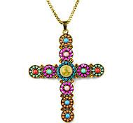 beadwork handmade jesus estilo boho cruz pendente necklacenl-2101a, b, c, d, e