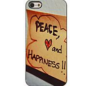 Crawl von Frieden und Glück Muster PC Hard Case mit 3 Lunch HD-Display-Schutzfolien für das iPhone 5/5S