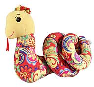 Small-sized Chinese Zodic Polychrome Plush Snake Puppet Gift