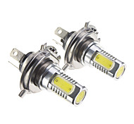 H4 7.5W Cool White Light LED Bulb for Car (12-30V,2 pcs)