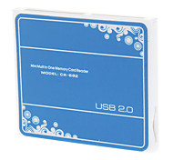 Lecteur USB 2.0 T-Flash Card 4-en-1 à haute vitesse (couleurs assorties)