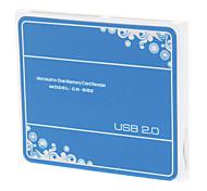 4-in-1 Reader T-flash USB 2.0 Card-alta velocità (colori assortiti)