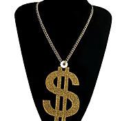Fashion Dollar Pendant Necklace