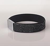 Six Rows Magnet Black Bracelet