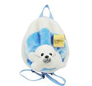 Adorable Light Blue Plush Seal Puppet Backpack