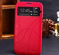 Para Samsung Galaxy Note con Ventana / Flip Funda Cuerpo Entero Funda Un Color Cuero Sintético Samsung Note 2
