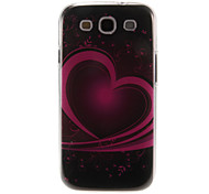 Art Heart Pattern Plastic Protective Hard Back Case Cover for Samsung Galaxy S3 I9300