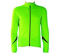 JAGGAD - Cycling Fleece Long Sleeve Fluorescent Green+Black Bicycle Jersey