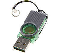 Mini USB Memory Card Reader (Green+Gray)