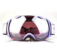 BASTO Purple Frame Purple Sensor Mirror Lens Snow Googgles