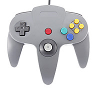 Wired Joystick Video Game Controller para Nintendo 64 (Preto)