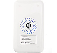 Qi Wireless Charger White Charging Pad with Black Receiver for Samsung Galaxy S4 I9500