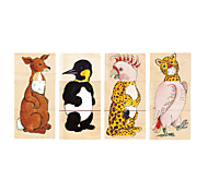 12Pcs Animal Style Jigsaw Puzzle Wooden Educational Toys