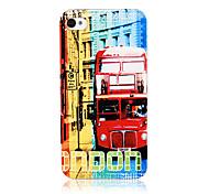 Classics London Red Bus Pattern Transparent Frame zurück Fall für iPhone 4/4S