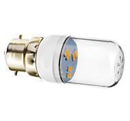 Faretti 6 SMD 5730 B22 1 W 70-90 LM Bianco caldo AC 220-240 V