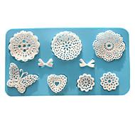 выпечке Mold Цветы Кружева Для торта Для Cookie Для Pie силиконовый Экологичность Высокое качество День Святого Валентина