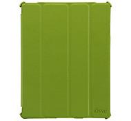 Ultrathin Litchi Line Protective 4 Folded Auto Wake-Up/Sleep PU Leather Case for iPad 2