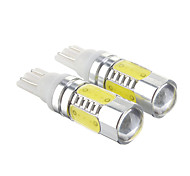 T10 7.5W Cool White Light LED Bulb for Car (12-30V,2 pcs)