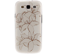 Painting Jasmine Flower Pattern Plastic Protective Hard Back Case Cover for Samsung Galaxy S3 I9300