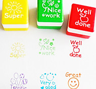 6 Pieces Corlorful Cartoon Style Stampers Se