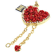 8G Metal Heart Feature USB Flash Drive
