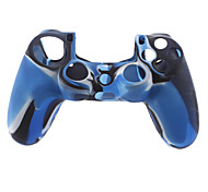 Silicone Skin Case and 2 Blue Thumb Stick Grips for PS4 (Navy Blue)