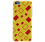 Red and Yellow Quadrangles Pattern Hard Case for iPhone 5C