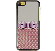 Elegant Bowknot with Lace Pattern PC Hard Case with 3 Packed HD Screen Protectors for iPhone 5C