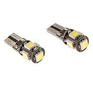 T10 3W 5x5060SMD 230LM 5500-6500K refrescan la lámpara LED de luz blanca para coche (12V)