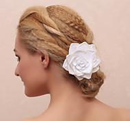 Elegant Flower With Imitation Pearl Women'S Barrette