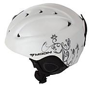 MOON® Casco Per donna / Per uomo Neve Casco Sport Montagna / Half Shell Casco protettivo da sport Bianco / Grigio Casco neve ABSCiclismo