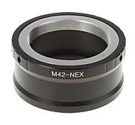 Anillo adaptador M42-NEX lente de la cámara (Negro)